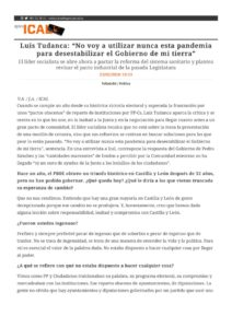 """thumbnail of Agencia Ical – Luis Tudanca_ """"No voy a utilizar nunca esta pandemia para desesta"""