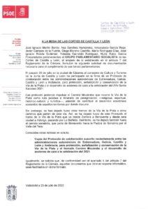 thumbnail of Camino de Santiago Vía de la Plata petición Protocolo julio 2020